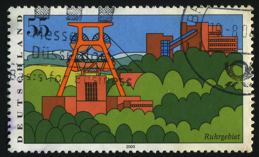 GERMANY- CIRCA 2003: stamp printed by Germany, shows Scenic Regions in Germany, Ruhr Region, circa 2003.